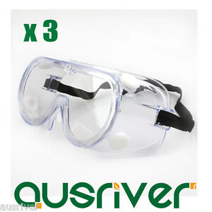 Glasses, Goggles & Shields 3x 3m1621 Dust-tight Anti-fog Protective Glasses Goggles Safe Eyewear For Splash