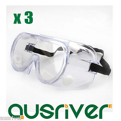 3x 3m1621 Dust-tight Anti-fog Protective Glasses Goggles Safe Eyewear For Splash Safety & Protective Gear Glasses, Goggles & Shields