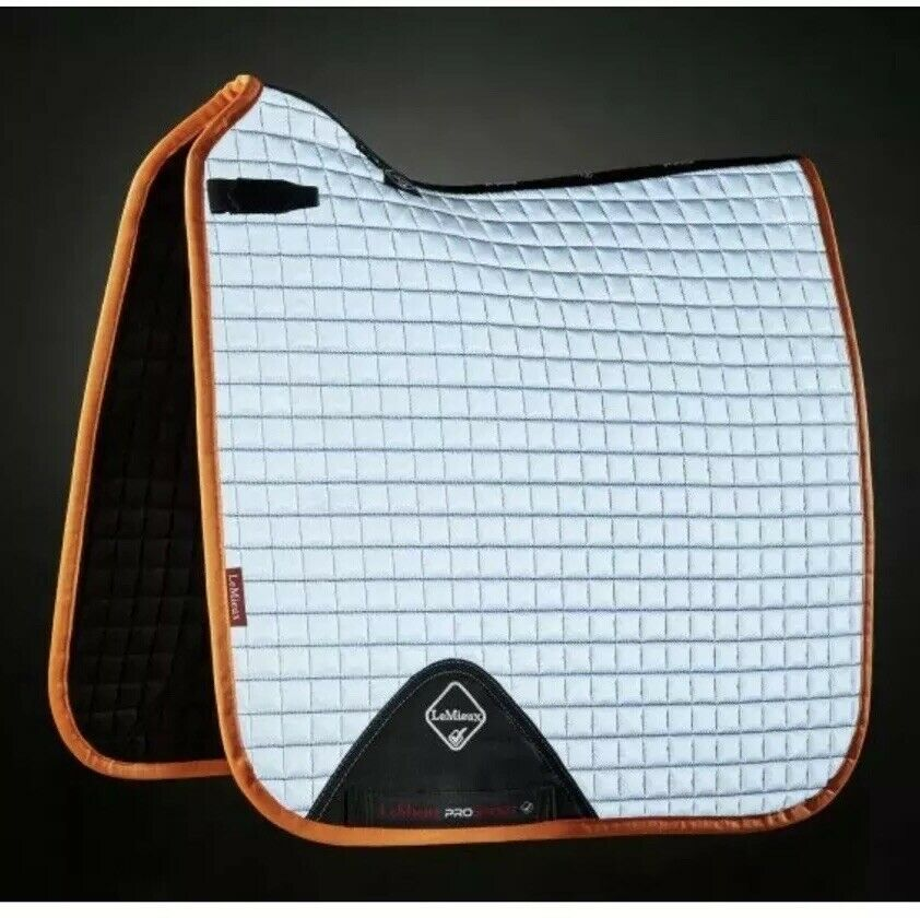 Le Mieux Saddle Pad, DRESSAGE, Large, Hi Viz TANGERINE, FREE UK Postage