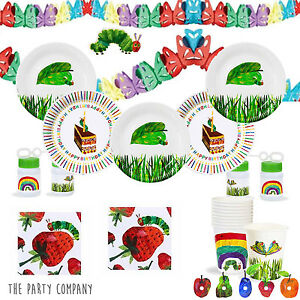 The Very Hungry Caterpillar Birthday Party Tableware, Plates, Cups ...