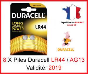8 Piles LR-44   AG13   A76   V13GA DURACELL Bouton Alcaline 1,5V DLC ... 65dab548e050