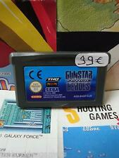 Game Boy Advance GBA:Gunstar Future Heroes [TOP & 1ERE EDITION RARE] SEUL - Fr