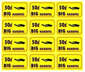 12-50-BIG-HANDFUL-Stickers-Bulk-Vending-Labels-50-cent