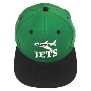 cf6f09ad22f Reebok NFL New York Jets Green Cap 2 Tone Vintage Old School Flat ...