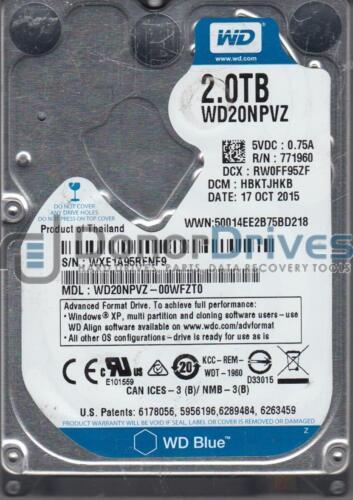 Western Digital 2TB SATA 2.5 Hard Drive DCM HBKTJHKB WD20NPVZ-00WFZT0