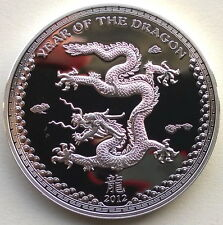 """Palau 2012 Year of Dragon """"Land"""" 5 Dollars Silver Coin,Proof"""