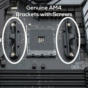AM4 mounting Bracket CPU Socket Mount Cool Fan Heatsink Bracket Dock Base for AMD AM4 B350 X370 A320 X470 2-Pack