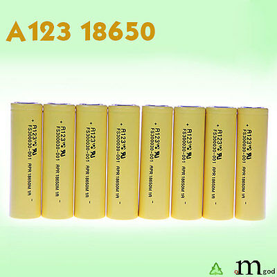 8 PCS New Arrival Lifepo4 Rechargeable A123 Systems Original 18650 cells