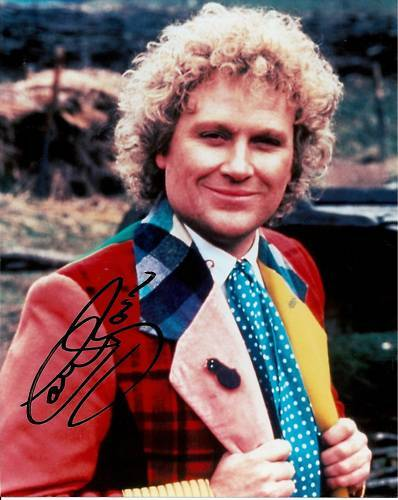 COLIN BAKER personally signed 10x8 DR WHO