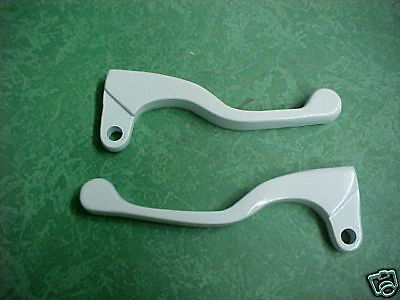 Honda 72 thru 83 White Shorty Levers XR75 CR125 CR250 SL70 SL350 CL100 CL450 Etc
