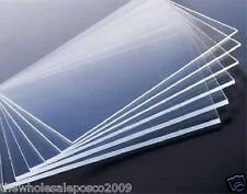 Pack of 2 Clear Acrylic Plastic Sheets Perspex Panels A4 3mm Small Clear Windows