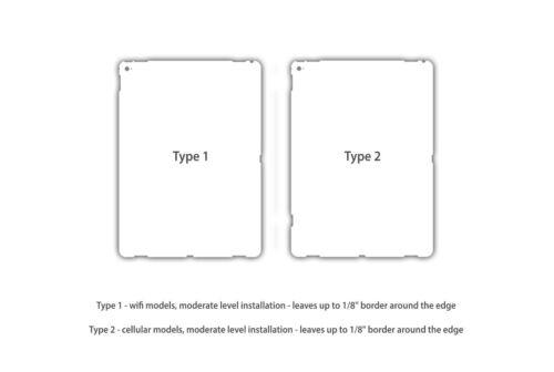 "iPad Pro 9.7/"" Back Skin Kit WRAP DECAL STICKER SKIN Carbon Fiber Metal Leather"