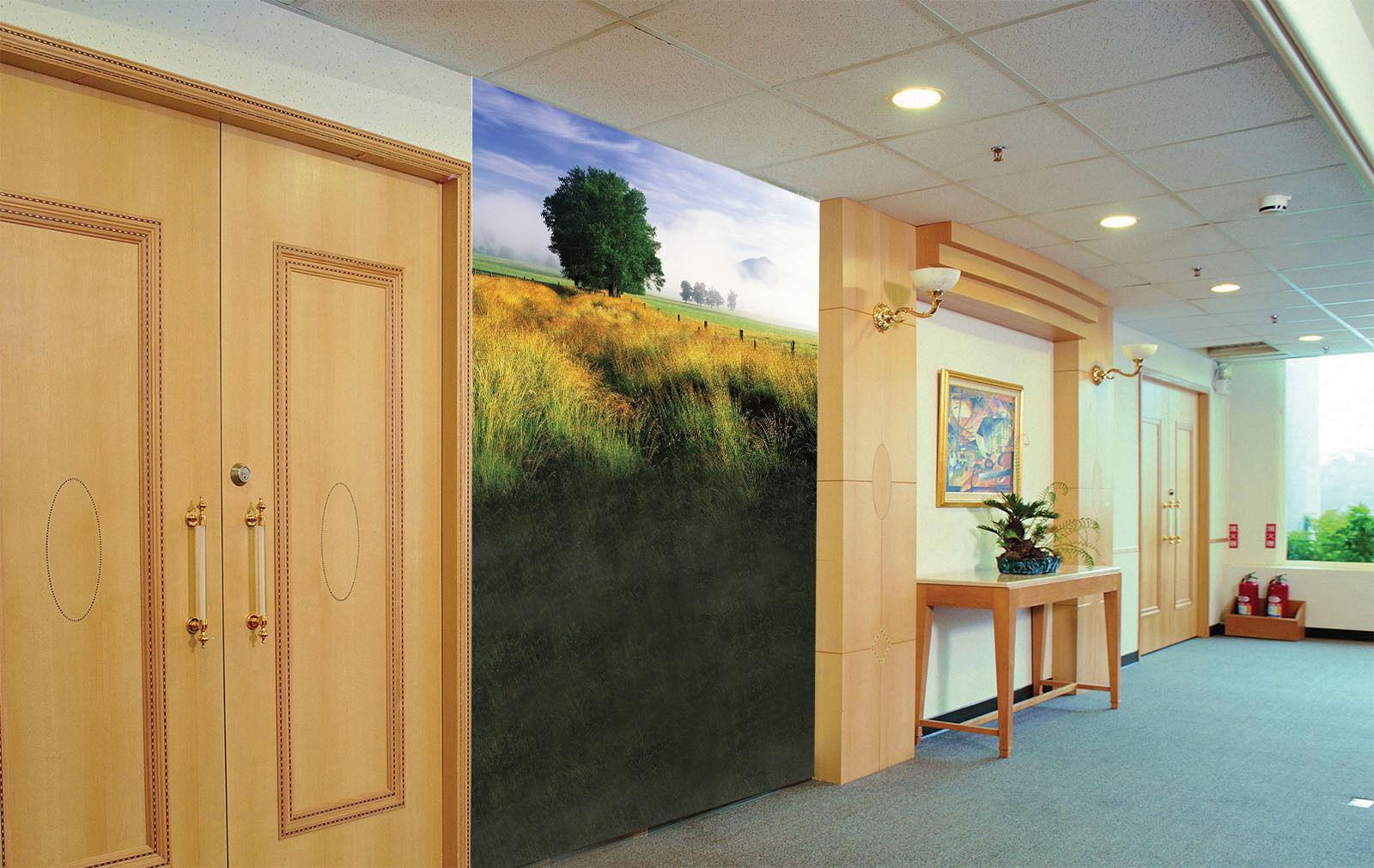 3D Grassland Road Tree 05 Wall Paper Wall Print Decal Wall AJ WALLPAPER CA