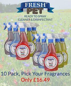 Fresh-Pet-Spray-Nettoyant-Patte-Sur-Desinfectant-Melange-Paquet-de-10