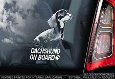 Dachshund - Car Window Sticker - Dog on Board Sign, Short-Haired Teckel - TYP1