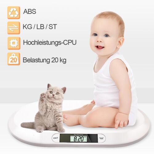 Babywaage Säuglingswaage digital led bis 20kg Kinder Kinderwaage Kleintierwaage