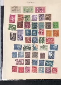 sweden stamps page ref 18000