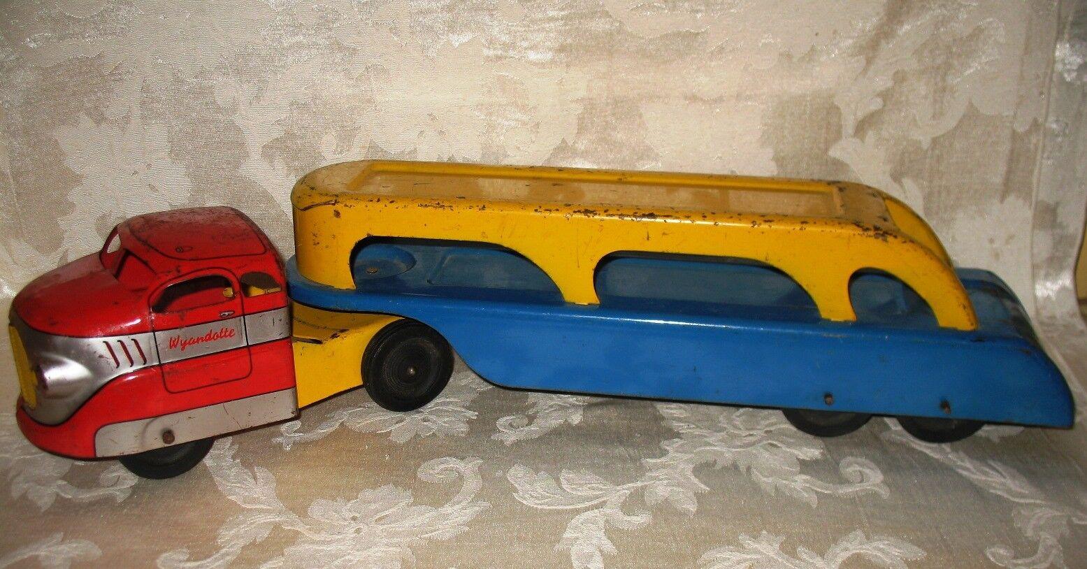 Jahrgang 1940, ist wyandotte innenauskleidungstafein rot   blau   gelb auto transportfahrzeuge trailer 21.