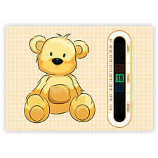 A6 Nursery, Baby and Childrens Beige Teddy Bear Room Thermometers