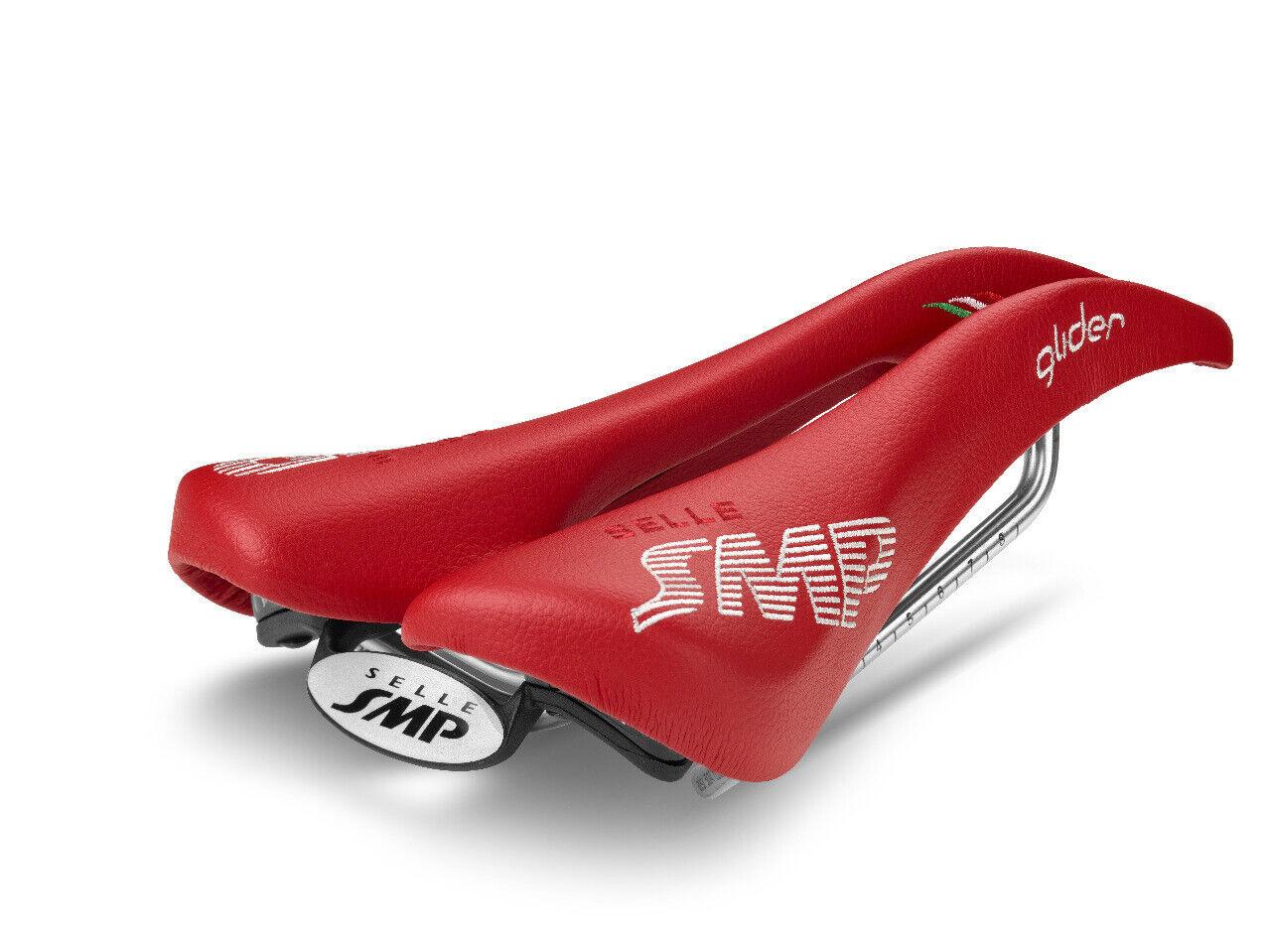 Selle SMP  Glider bicicletta Saddle Seat  rosso .  .  . fatto in