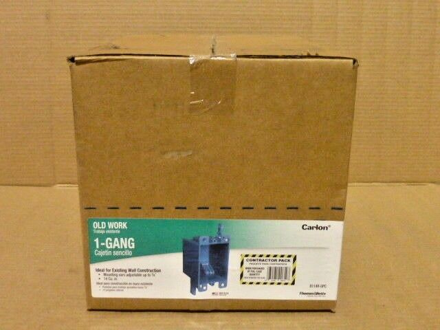 CASE OF 50 Carlon Old Work Single Gang Outlet Switch Boxes Non-Metallic New LOT