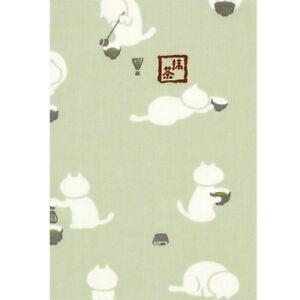 HAMAMONYO-Tenugui-039-Cat-039-s-Tea-Ceremony-039-Japanese-Hand-Towel-100-Cotton