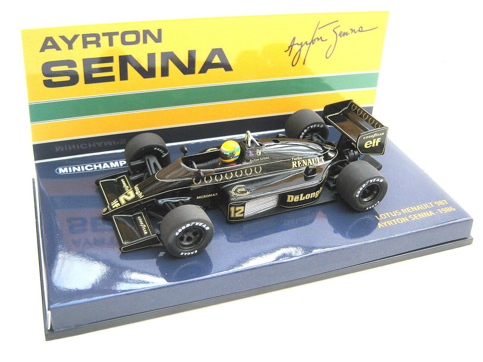 Lotus Renault f1 98 T Ayrton Senna 1986  12 World Champion PMA 540864312 1 43 neuf dans sa boîte