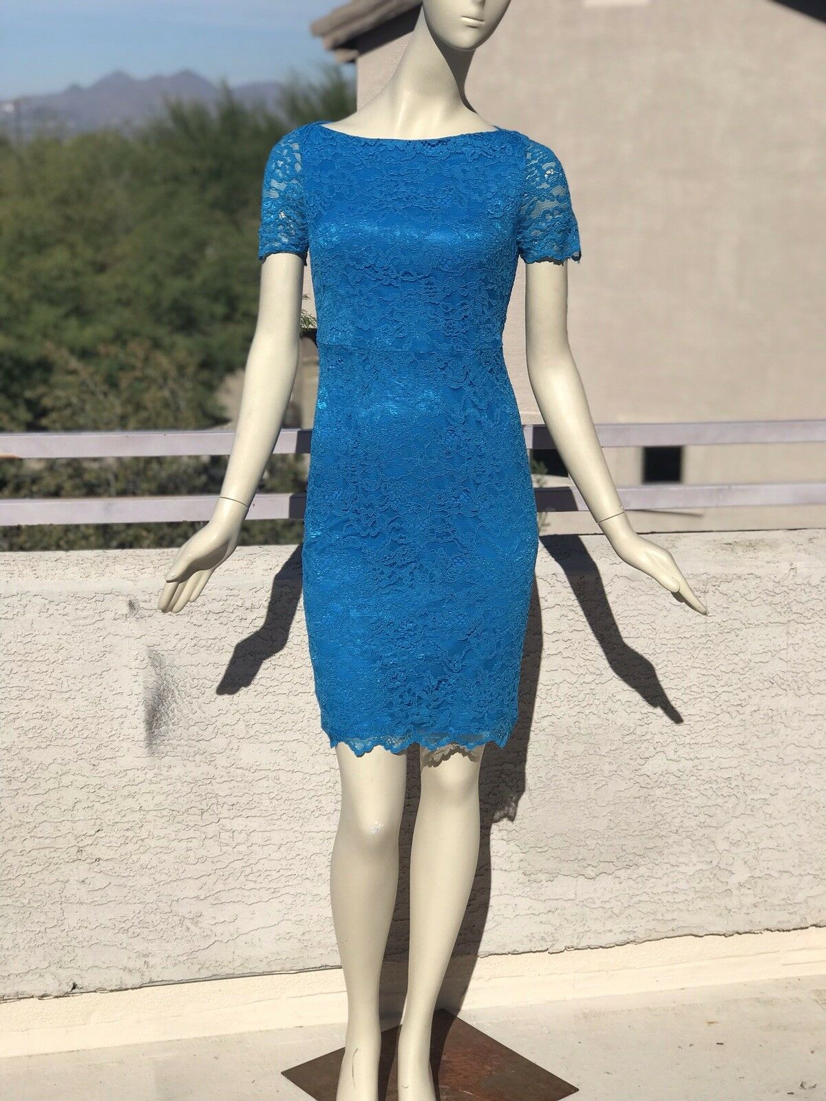 Diane Von Furstenberg Ainsley Lace Lace Lace Dress Size 4 07b930