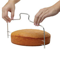 Home Adjustable Stainless Baking 2 Wire Layer Cake Cutter Leveler Cooking Gadget