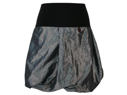 Ballonrock Taft Grau Rock Damen Lagenlook Boho Stiefelrock