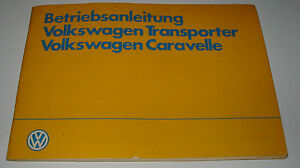 Betriebsanleitung-VW-Transporter-T-3-Bus-Bulli-Caravelle-T3-Bedienungsanleitung