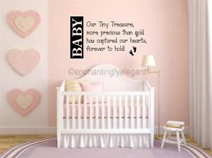 Bedroom Decor Letters baby our tiny treasure nursery room decor vinyl decal wall sticker