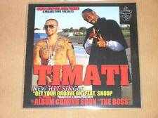 RARE CD PROMO 1 TITRE / TIMATI FEAT. SNOOP / GET YOUR GROOVE ON / TRES BON ETAT