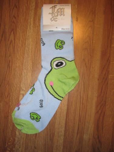 New Ladies Green FROG Crew Socks 9 11 Large