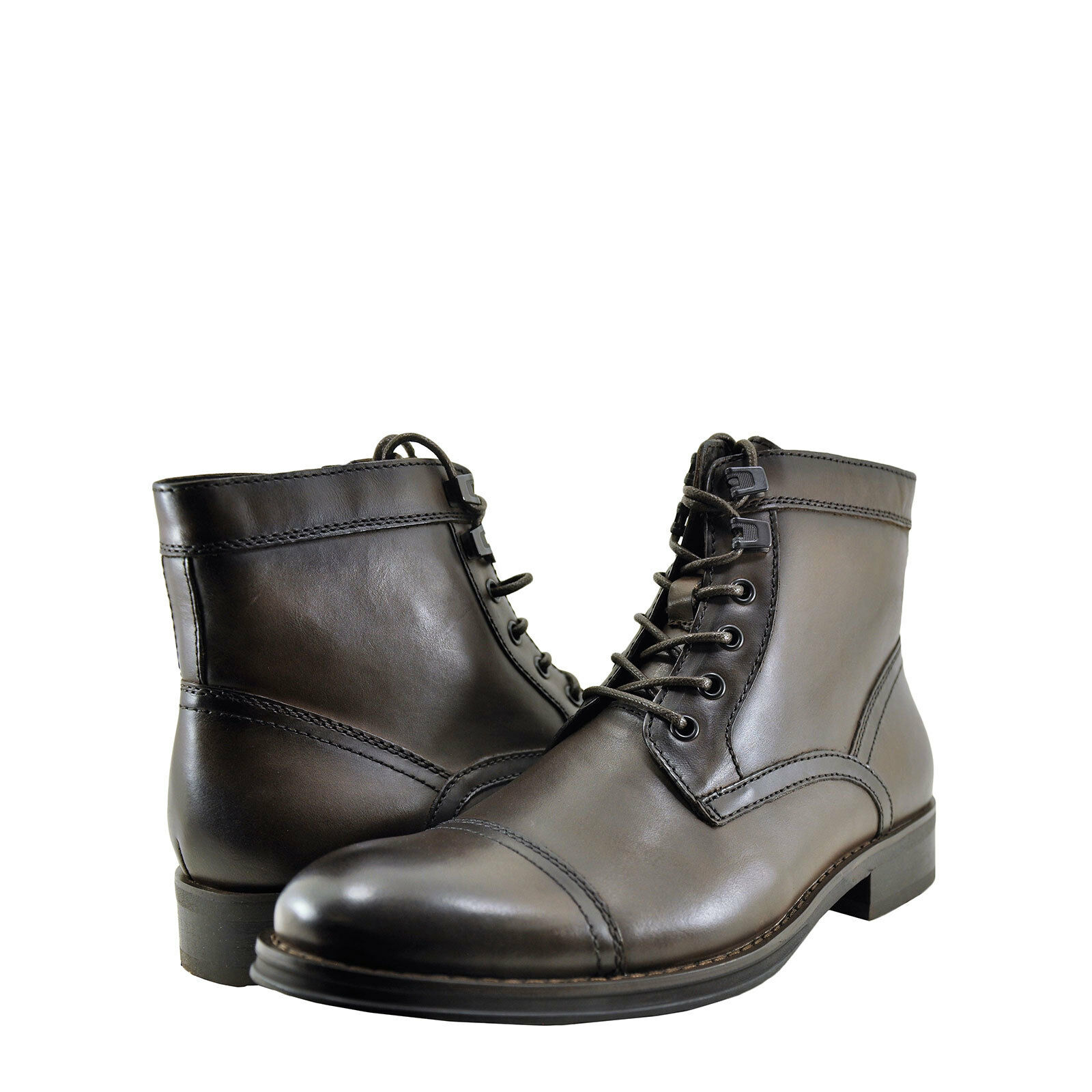 Mens shoes Kenneth Cole Design 104352 Lace Up Boot KMF7LE044-202 Dark Brown New