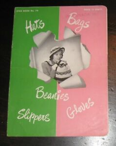 1951 Star BOOK #79 Beanies Slippers Gloves Hats Bags knitting patterns designs