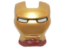 LEGO - Minifig, Visor Top Hinge w/ Gold Face Shield & White Eyes (Iron Man)