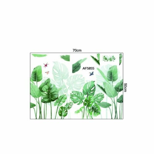 Plant Wall Stickers Art Mural Tropical Leaves Green Vinyl Decal Fadd Living Room