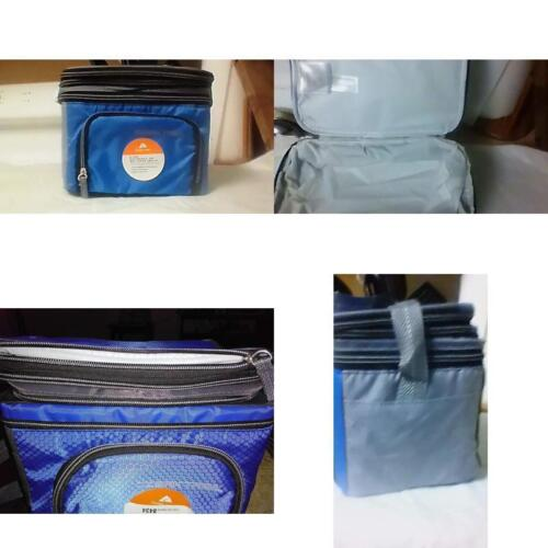 Ozark Trail Lunch Box Cooler Expandable Lunchbox Food Drinks Soft Hard Blue