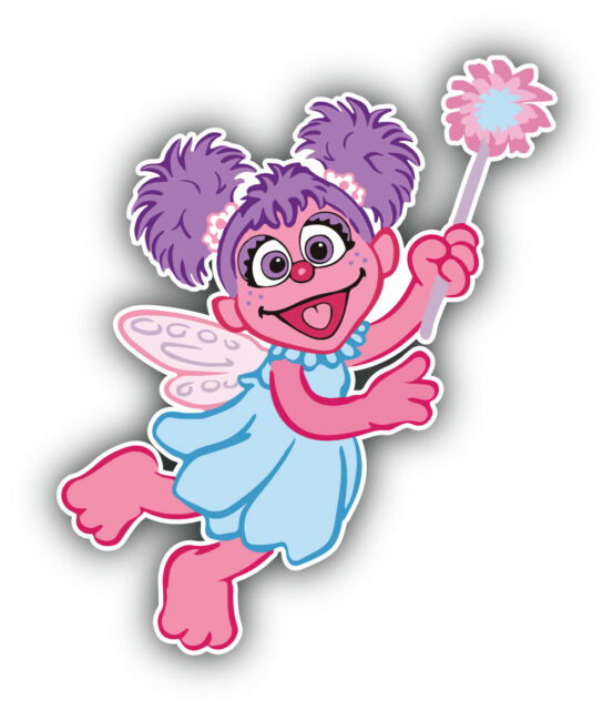 Sesame street abby cadabby wall sticker glossy cut out border 6 to 10.5 inch