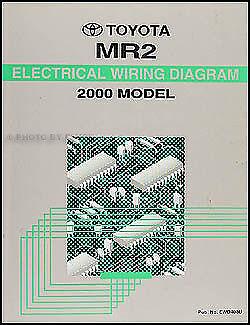 NEW 2000 Toyota MR2 Wiring Diagram Manual Original MR-2 Electrical Shop Repair