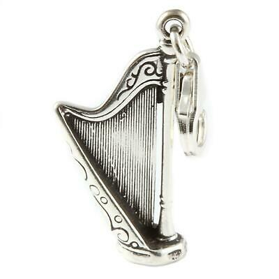 With 11mm Clasp Mythical Horse Unicorn 3D 925 Sterling Silver Clip On Charm