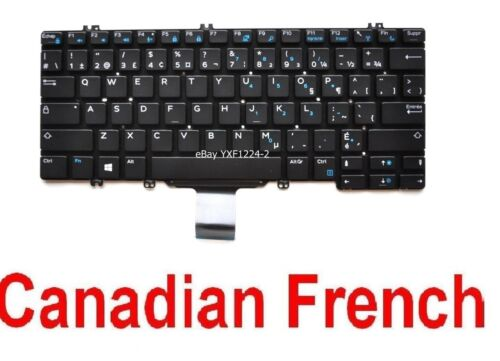 CF 0253TP Keyboard for Dell Latitude 7380 13-7380 13 7380