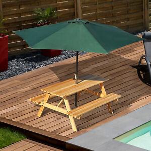 Outsunny-5-8FT-Outdoor-Wooden-Picnic-Table-Bench-Garden-Patio-Pub-Chair-4-Seats