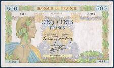 FRANCE - 500 FRANCS LA PAIX Fayette n° 32.6 du 26-9-1940.DJ en TTB H.969 631