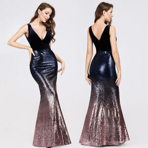 Ever-Pretty-V-neck-Evening-Dress-Long-Sequins-Purple-Mermaid-Bodycon-Gown-07767