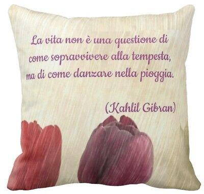 Frasi Matrimonio Gibran.Cuscino Personalizzato Kahlil Gibran Poeta Citazione Frase D Amore