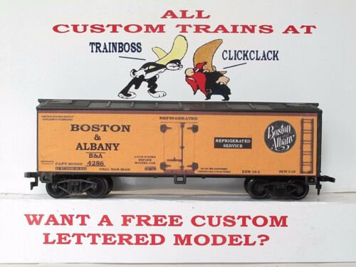 HO CUSTOM LETTERED BOSTON /& ALBANY RR FREIGHT CAR REEFER.LOT A