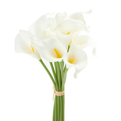 Real Touch White Calla Lily Flower Bundle 12 Stems Ebay