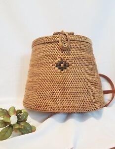 Rattan Eco-friendly Hand-woven Bali Backpack Bag